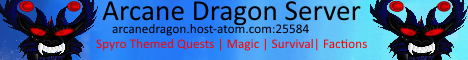 Arcane Dragon minecraft server banner