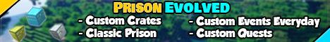 PrisonEvolved minecraft server banner