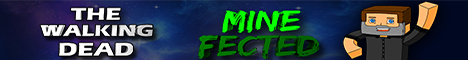 MineFected minecraft server banner