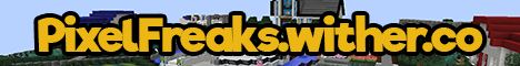 Pixel Freaks minecraft server banner