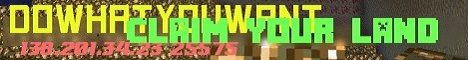 DoWhatYouWant minecraft server banner