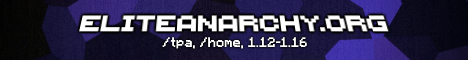 Elite Anarchy minecraft server banner