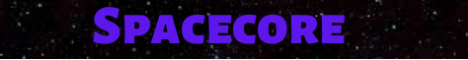 Spacecore minecraft server banner