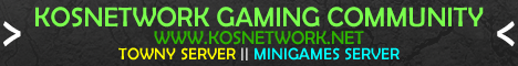 KOSNetwork Server minecraft server banner