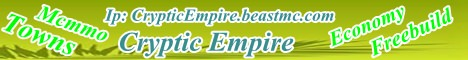 CrypticEmpire minecraft server banner
